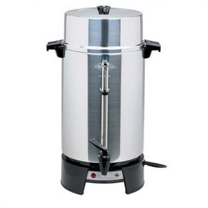 West Bend 33600 Highly Polished Aluminum Commercial Coffee Maker