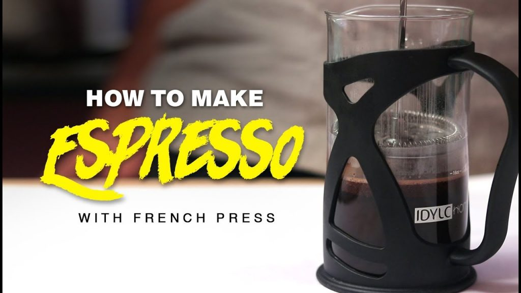 MAKING AN ESPRESSO WITH A FRENCH PRESS